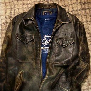 Gap Leather Patrol / Bomber Jacket